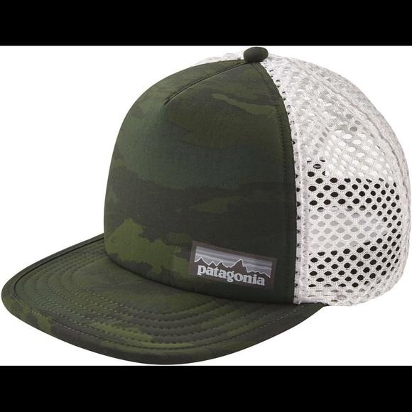 800fc913 Patagonia Accessories | Rare Nwot Camo Duckbill Trucker Hat | Poshmark